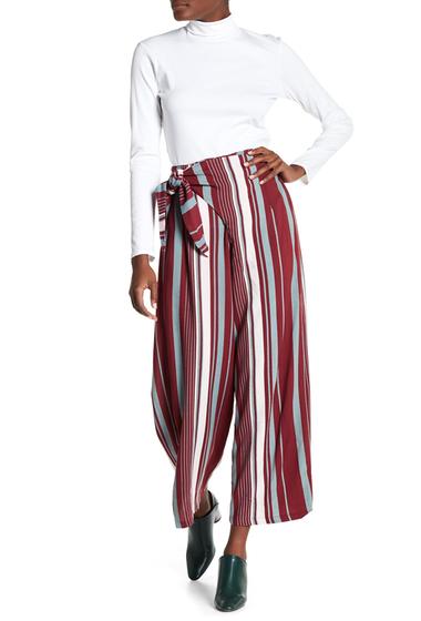 Imbracaminte Femei Angie Wrap Waist Pants WINE