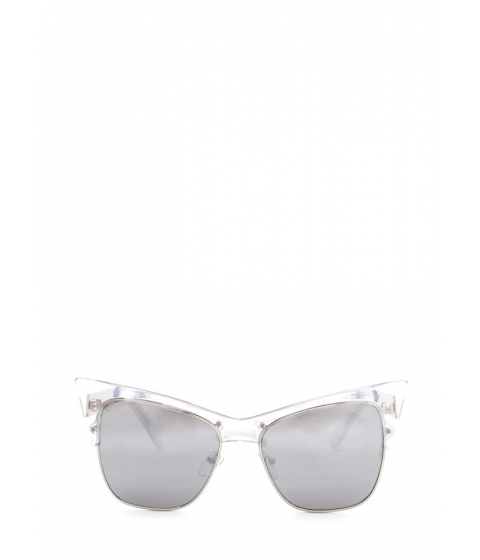 Accesorii Femei CheapChic Cats Meow Brow Bar Sunglasses Silverclear