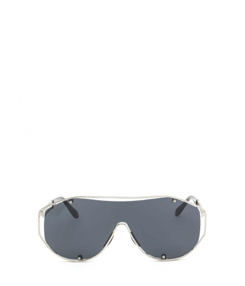 Accesorii Femei CheapChic Glam Athlete Shiny Shield Sunglasses Blacksilver