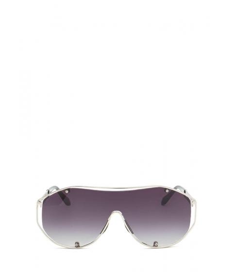 Accesorii Femei CheapChic Glam Athlete Shiny Shield Sunglasses Greysilver