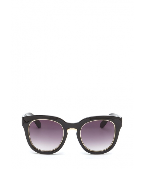Accesorii Femei CheapChic Living It Up Metallic Trim Sunglasses Black