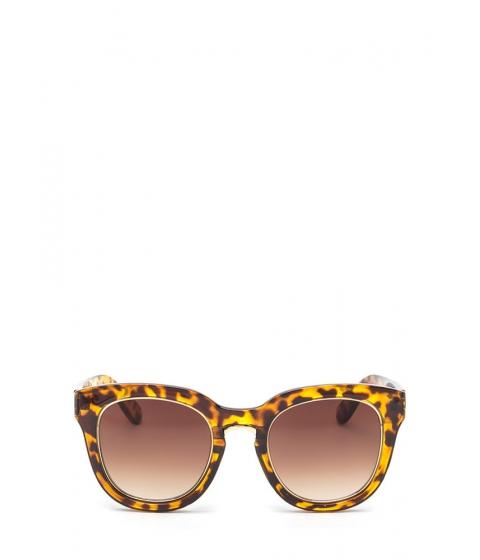 Accesorii Femei CheapChic Living It Up Metallic Trim Sunglasses Brown