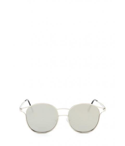 Accesorii Femei CheapChic Make The Cut-out Round Sunglasses Silver
