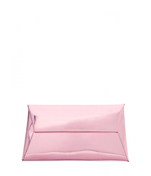 Accesorii Femei CheapChic Reflecting Pool Metallic Envelope Clutch Pink