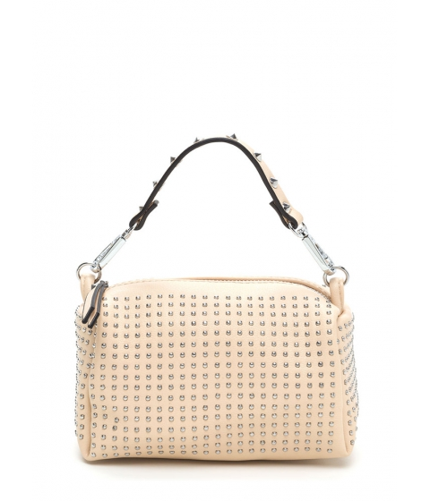 Accesorii Femei CheapChic Stud-y Buddy Faux Leather Mini Bag Beige