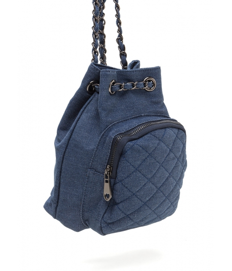 Accesorii Femei CheapChic Style Genius Quilted Denim Mini Backpack Dkblue