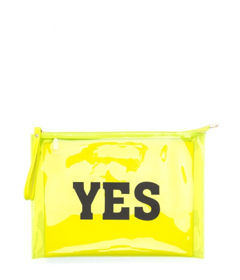 Accesorii Femei CheapChic Yes Or No Flat Zippered Clutch Neonyellow