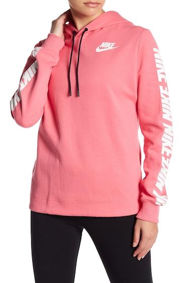 Imbracaminte Femei Nike Brand Logo Design Hoodie 662 PINNEBWHITE