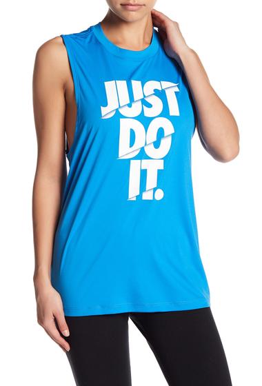 Imbracaminte Femei Nike Crew Neck Just Do It Muscle Tee 435 LTPHBLWHITE