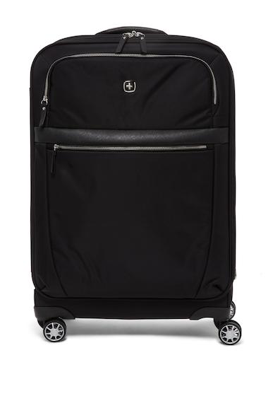 Genti Femei SwissGear Geneva 24 Expandable Spinner Suitcase BLACK