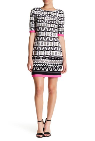Imbracaminte Femei Eliza J Print Jersey Shift Dress Petite BLK IVORY