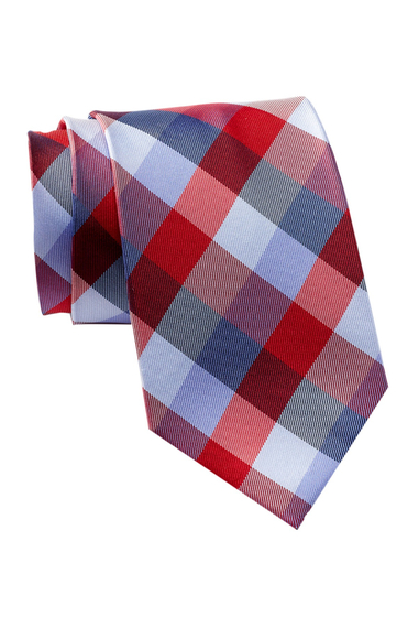 Accesorii Barbati Tommy Hilfiger Silk Buffalo Tartan XL Tie RED-BLUE