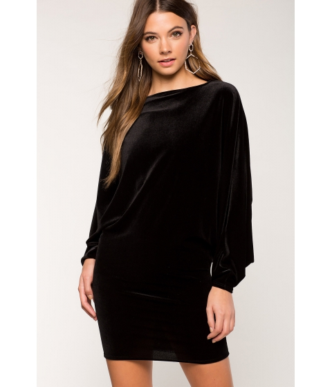 Imbracaminte Femei CheapChic Dolman Velvet Dress Black