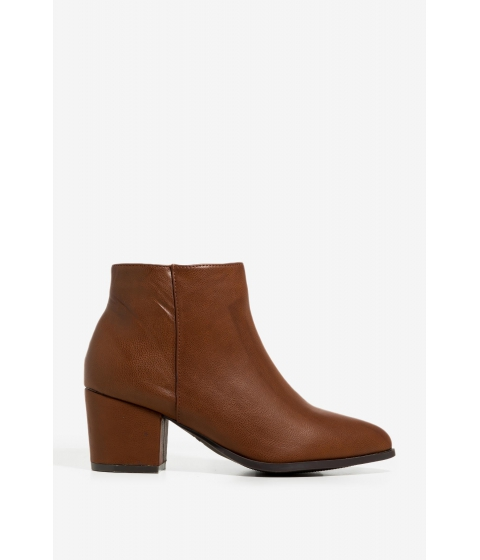 Incaltaminte Femei CheapChic Cool Girls Booties Cognac