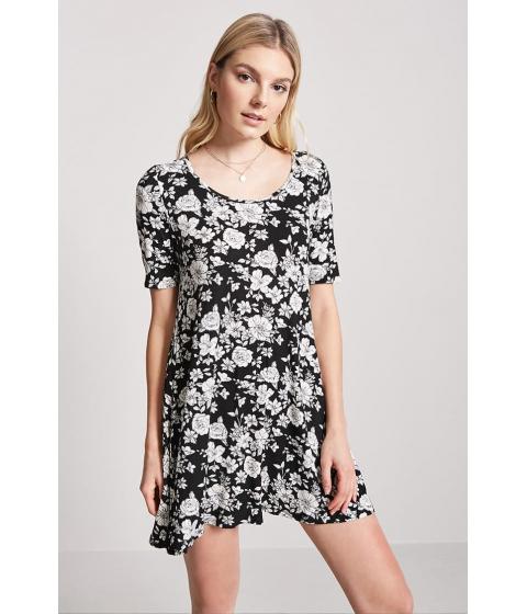 Imbracaminte Femei Forever21 Floral Swing Dress BLACKIVORY