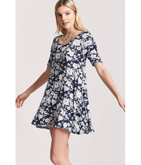 Imbracaminte Femei Forever21 Floral Swing Dress NAVYIVORY