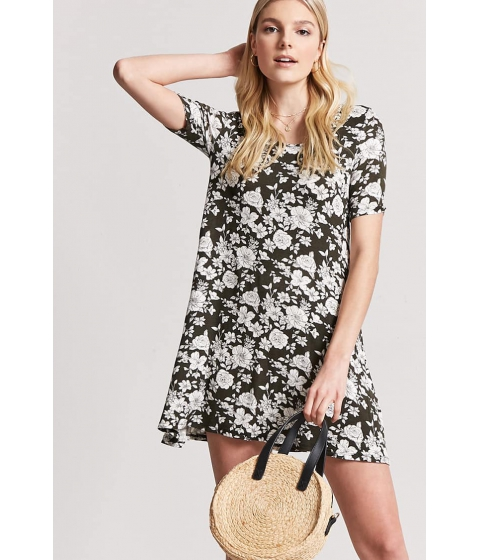 Imbracaminte Femei Forever21 Floral Swing Dress OLIVEIVORY