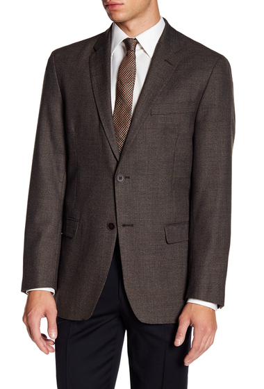 Imbracaminte Barbati Tommy Hilfiger Bray Wool Blend Classic Fit Sportscoat BROWN SOLID