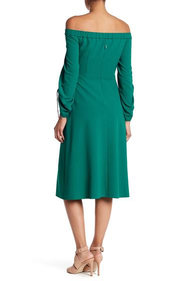 Imbracaminte Femei Tibi Off-the-Shoulder Midi Dress MIDORI GREEN