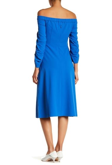 Imbracaminte Femei Tibi Off-the-Shoulder Midi Dress ELBE BLUE