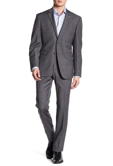 Imbracaminte Barbati Original Penguin 2-Piece Fabric Trim Fit Suit GREY SHARKSKIN