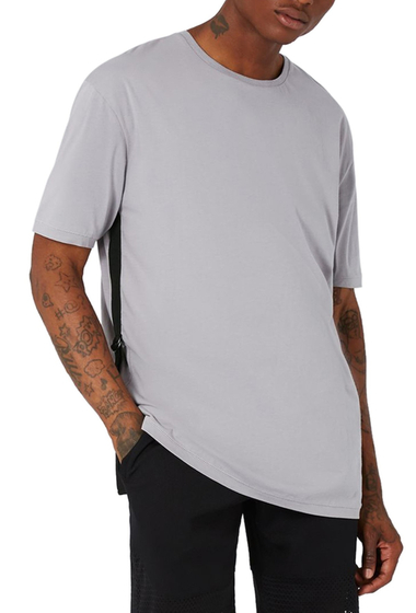Imbracaminte Barbati TOPMAN AAA Collection Side Strap T-Shirt GREY MULTI
