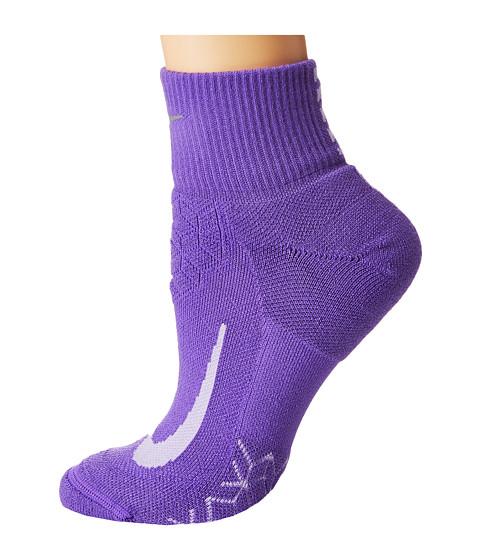Imbracaminte Femei Nike Elite Cushion Quarter Running Socks Action GrapePurple Agate