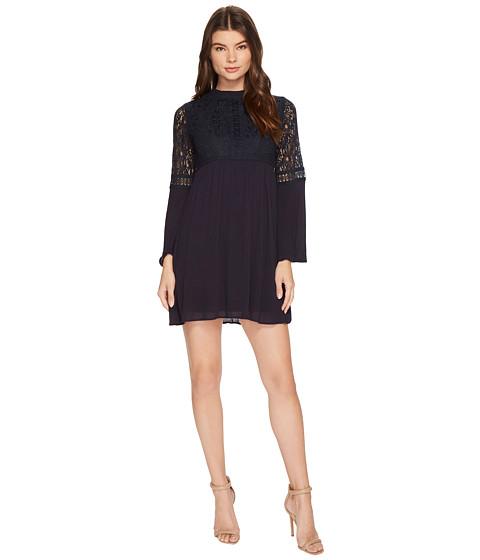 Imbracaminte Femei Brigitte Bailey Janiyah Bell Sleeve Dress with Lace Detail Navy