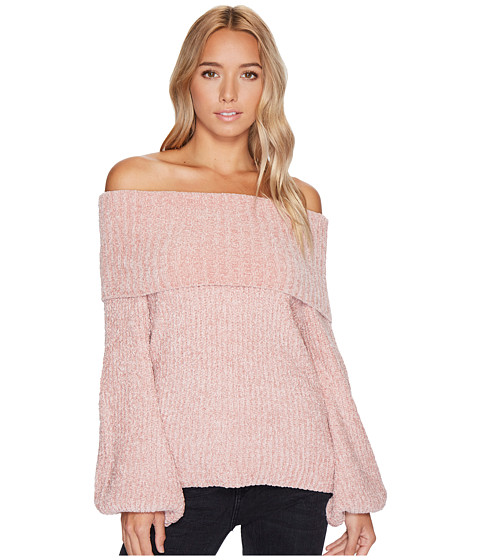 Imbracaminte Femei Brigitte Bailey Gisselle Ribbed Off the Shoulder Sweater Dusty Pink