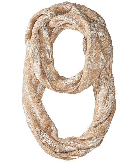 Accesorii Femei Calvin Klein Plaited Cable Infinty Scarf Heathered Almond