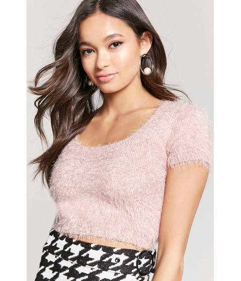 Imbracaminte Femei Forever21 Fuzzy Knit Cropped Top BLUSH