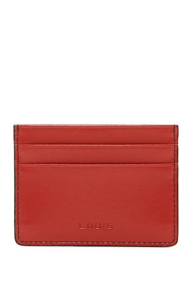 Genti Femei Lodis Accessories Mini Leather ID Card Case RED