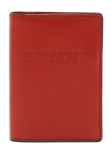 Genti Femei Lodis Accessories Audrey Leather Passport Cover RED