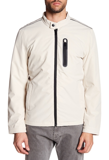 Imbracaminte Barbati Perry Ellis Stretch Moto Jacket STONE