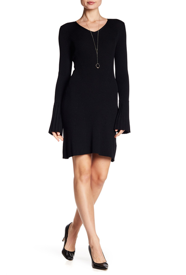 Imbracaminte Femei Laundry by Shelli Segal Ribbed Bodycon Sweater Dress BLACK