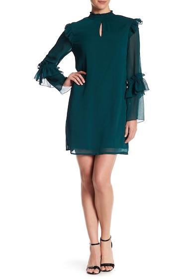Imbracaminte Femei Bobeau Ruffle Trim Crinkle Dress DARK TEAL AS