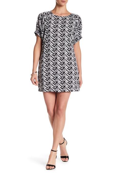 Imbracaminte Femei Bobeau Geo Print Raglan Sleeve Dress BLACKWHITE PRINT