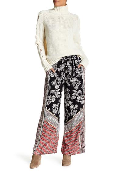 Imbracaminte Femei Angie Wide Leg Multicolored Patterned Pant BLACK
