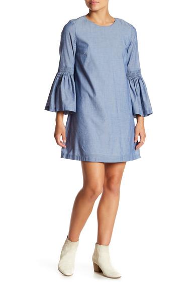 Imbracaminte Femei 1State Bell Sleeve Shift Dress 463-DARK OXFORD