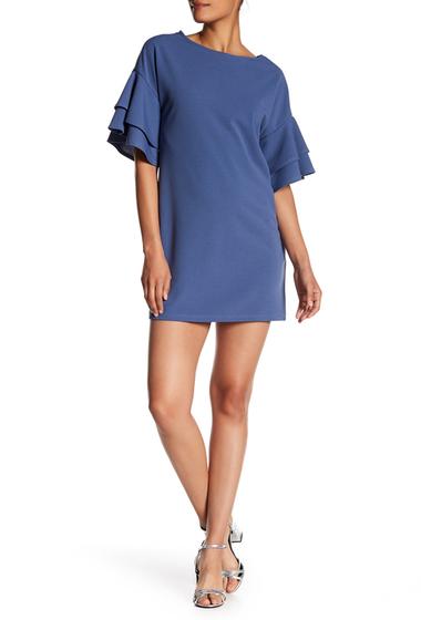 Imbracaminte Femei Vanity Room Tiered Sleeve Crepe Dress Regular Petite DENIM