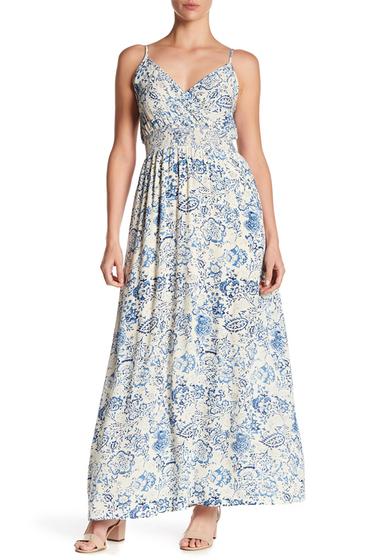 Imbracaminte Femei WEST KEI Print Smocked Waist Maxi Dress BLUE BATIK