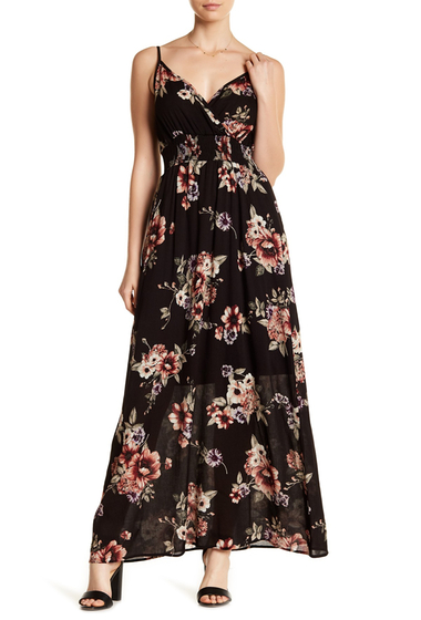 Imbracaminte Femei WEST KEI Print Smocked Waist Maxi Dress BLKFLORAL