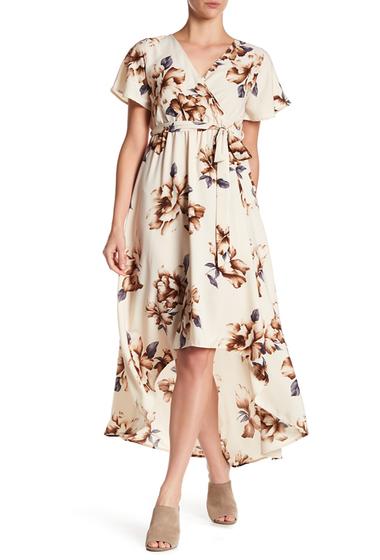 Imbracaminte Femei WEST KEI Floral Hi-Lo Dress IVORY GOLD