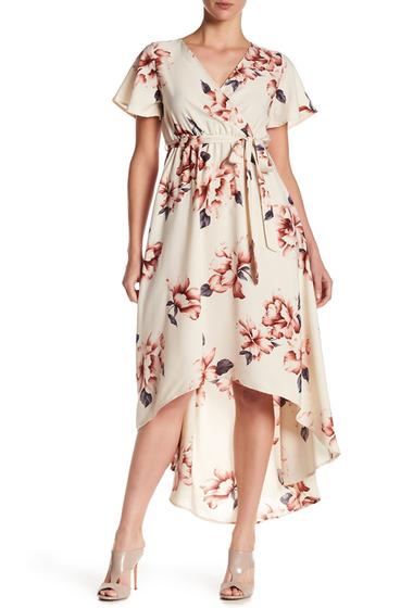 Imbracaminte Femei WEST KEI Floral Hi-Lo Dress IVORY MUVE