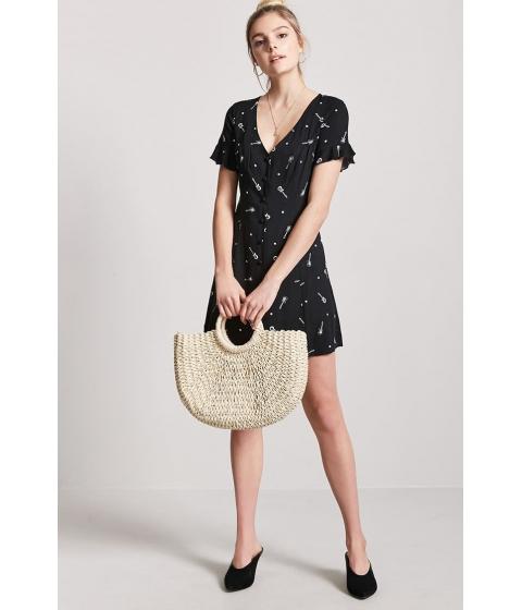 Imbracaminte Femei Forever21 Star Guitar Print Mini Dress BLACKWHITE