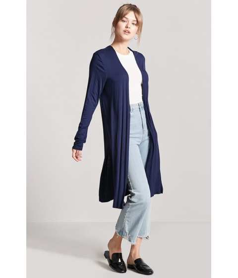 Imbracaminte Femei Forever21 Open-Front Knit Cardigan NAVY