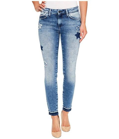 Imbracaminte Femei Mavi Jeans Adriana Mid-Rise Super Skinny Ankle in Patchoff Star Blocking Patchoff Star Blocking