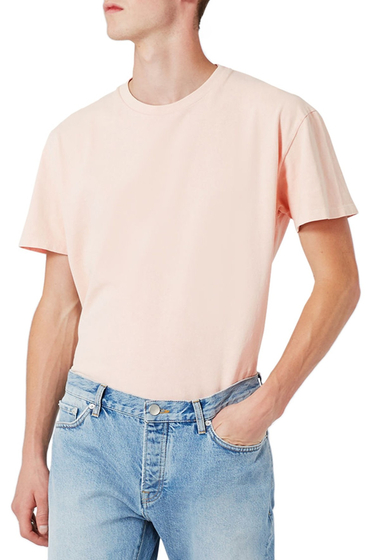 Imbracaminte Barbati TOPMAN LTD Collection Washed T-Shirt PINK