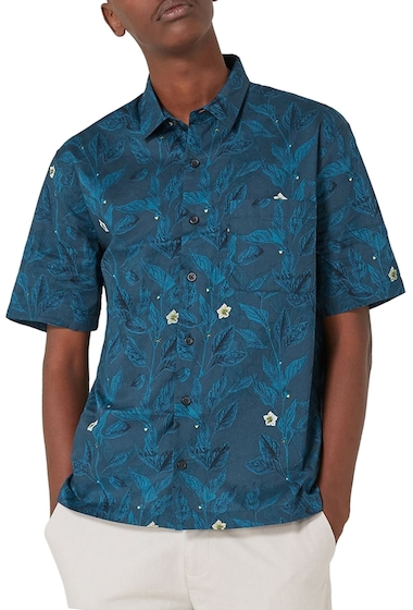 Imbracaminte Barbati TOPMAN Floral Print Shirt BLUE