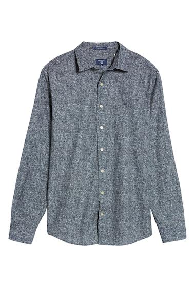 Imbracaminte Barbati Gant Regular Fit Tweed Print Sport Shirt MARINE